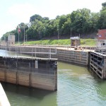 Gates open at Elizabeth Locks & Dam